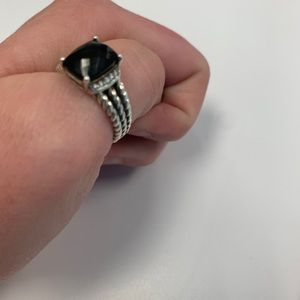 David Yurman Wheaton ring. Black onyx size 7.